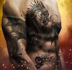 Dragon tattoo  Wow!!