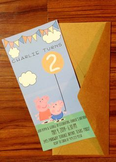 peppa pig and george birthday invite