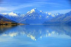 The 10 Best Places in New Zealand to Visit in Your Campervan - Canterbury Plains a view of Mt. Cook, South island
