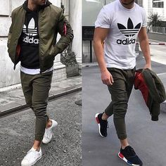 141 super casual winter outfit for men – page 26 Stylish Mens Outfits, Casual Winter Outfits, Men Casual, Dress Casual, Mens Style Guide, Men Style Tips, Joggers Outfit, Mens Adidas Outfit, Men With Street Style