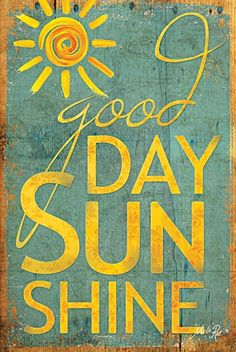 Good Day Sunshine. The Beatles. (poster by Marla Rae)