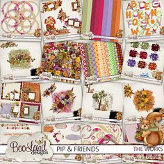 #Pip and Friends The Complete Works by #Booland Designs #theStudio #digiscrap