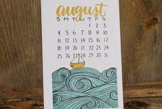 2013 Letterpress Calendar from 1canoe2.com