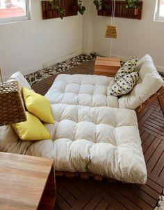 Futons dobráveis. Shikibuton/futon grande.