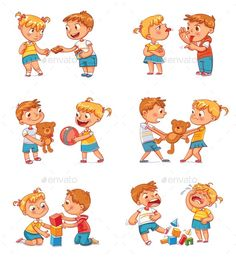 Good and Bad Behavior of a Child Royalty Free Vector Image - Good and Bad Behavior of a Child Royalty Free Vector Image Best Picture For cartoon videos For Yo - Best Kids Cartoons, Cartoon Kids, Funny Cartoons, Preschool Learning, In Kindergarten, Learning Activities, Activities For Kids, Brother And Sister Fight, Funny Cartoon Characters