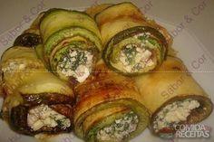 Receita de Rolinho de abobrinha com ricota e espinafre em receitas de legumes e verduras, veja essa e outras receitas aqui!