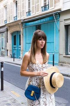 Chloe Drew Bag in Blue, Margo and Me, Paris, France