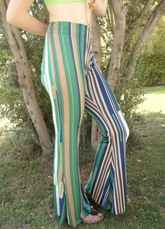 BS2711 Boho bell bottoms-Hippie pants-Boho pants-Retro stretch bell bottoms-Leggings-Yoga pants-Casual-Trendy clothing-70's clothing