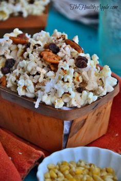 Sugar-Free Coconut Cacao Popcorn {Gluten-Free, Dairy-Free, Vegan}