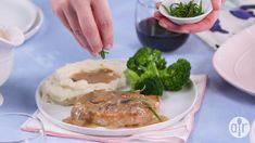 Decadent pork chops in a savory mushroom gravy is a delightful way to perk up your weekday meals. Pork Recipes, Cooking Recipes, Healthy Recipes, Cooking Pork, Healthy Meals, Easy Recipes, Creamed Mushrooms, Stuffed Mushrooms, Pork Chop Marinade