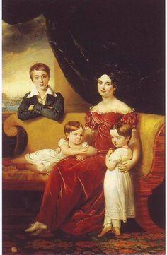 Мария Яковлевна Нарышкина ур. Лобановой-Ростовской (1789—1854) с детьми. Муж-Кирилл Александрович Нарышкин (1786 – 1838)