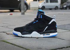 flight shoes nike | nike flight 13 mid black photo blue Nike Flight 13 Mid Black Photo ...