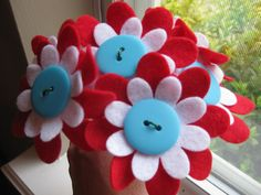Felt Flower BouquetThe Cat in the HatDr Seussred by ThisHappyHouse