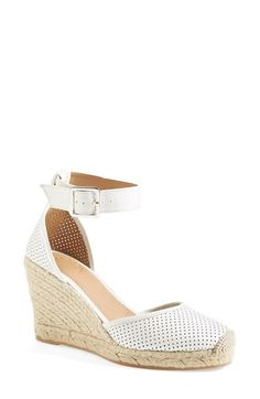 Free shipping and returns on MARC BY MARC JACOBS 'Summer Breeze' Lambskin Leather Espadrille Wedge Sandal (Women) at Nordstrom.com. Perforated leather furthers the breezy feel of an ankle-wrap espadrille that effortlessly goes from brunch to boardwalk.
