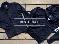 Restock: Momotaro Indigo Dyed Loopwheel Shawl Cardigan and Hoodie – Okayama Denim Okayama, Shawl Cardigan, Indigo Dye, Hoodies, Denim, Pants, Jackets, Products, Fashion