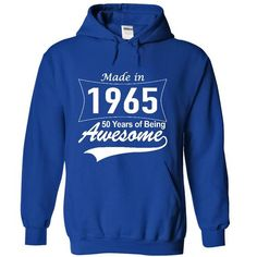 made in 1965 , 50 years awesome.  - #gift for him #gift friend. ORDER HERE => https://www.sunfrog.com/No-Category/made-in-1964-50-years-awesome-2111-RoyalBlue-17592473-Hoodie.html?68278