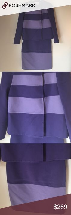 ⭐️VALENTINO JACKET & SKIRT 💯AUTHENTIC ❤️VALENTINO JACKET & SKIRT 💯AUTHENTIC ! STUNNING AND STYLISH ! TRUE SUPER HIGH END LUXURY AND STYLE! THE COLOR IS PURPLE. THE SIZE IS 6. THE BUST MEASUREMENT OF HE JACKET IS 18 ACROSS AND 36 INCHES AROUND. THE JACKET LENGTH IS 21.5. THE SKIRT WAIST IS 14 INCHES ACROSS AND 28 INCHES AROUND. THE HIP MEASURES 20 ACROSS AND 40 AROUND. THE SKIRT LENGTH IS 24 INCHES Valentino Jackets & Coats Blazers