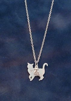 Angel Cat Memorial necklace by RoxysCreations on Etsy, $15.00