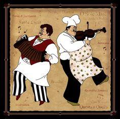 Musical Chefs I art print