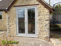 We design, supply & install made to measure wooden single & bespoke French doors. View our full range of timber external doors – visit a UK showroom! Cottage Windows, Cottage Door, Single French Door, French Doors, Single Doors, Grey Windows, Windows And Doors, Ral Colours Grey, Garden Room Extensions