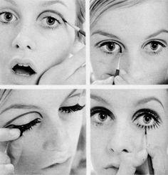 60's eyes - step-by-step