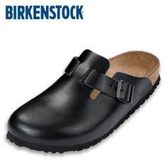 Happy Feet Plus® - Birkenstock Boston Leather Clogs Hunter Black