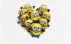 Minions, heart, art, Despicable Me