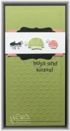 CAS124 Bugs & Kisses by stampercamper - Cards and Paper Crafts at Splitcoaststampers