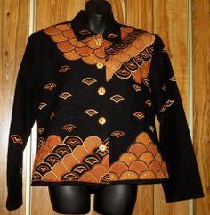 NWOT Woman's Daniel K Patchwork and Sequin Black & Brown Jacket Size Medium  Now $9.87