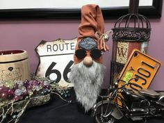 Your place to buy and sell all things handmade Recycled Wine Bottles, Wine Bottle Crafts, Biker Gnomes, Harley Davidson Gifts, Gnome Hat, Felt Christmas Decorations, Gnome House, Fall Crafts, Holiday Crafts