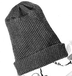 fffdc3a7bee Link to download the FREE Knit for Victory pattern Watch Cap Pattern   S-121. Vintage Knitting