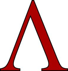 Lambda was used in Spartan army as symbol of Lacedaemon.