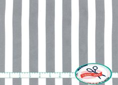LARGE GRAY STRIPE Fabric by the Yard Fat Quarter by FabricBrat