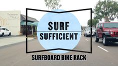 For those who travel around town by bicycle, they know riding with a surfboard under the arm can be cumbersome and awkward. In this episode of Surf Sufficient, our… Surfboard Bike Rack, Summer Surf, Commuter Bike, Travel Around, Surfing, Projects To Try, Bicycle, Awkward, Diy