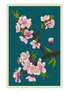 Awesocrafts Pink Cherry Blossoms Flowers Trees DIY Mosaic Cross Stitch for Adults Kids 5D Diamond Art Painting Full Drill Kits Cherry Blossoms