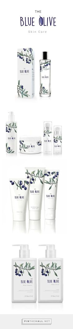 The blue olive's packaging / skin care