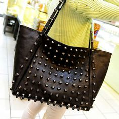 Stylish Punk Style Cool Rivet Handbag Bag