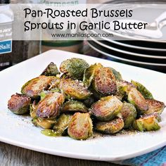 Buttery, Nutty, Garlicky - DELICIOUSLY GOOD - BRUSSELS SPROUTS! I promise this PAN-ROASTED BRUSSELS SPROUTS IN GARLIC BUTTER will make you see this humble vegetable in a totally different light!