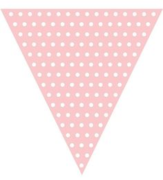 Add flair to your dessert bar with our baby pink polka dot flag banner which can be hanged as a backdrop to your candy buffet or even outdoors. Mix and match with our full line of coordinating product