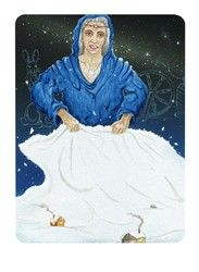 Hulda, Queen of Swords from the Snowland Tarot (Art by Ron Boyer) http://SnowlandTarot.com