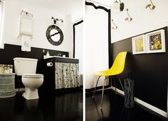I Am In Love With The Idea Of Creating A Yellow Black And White Bathroom