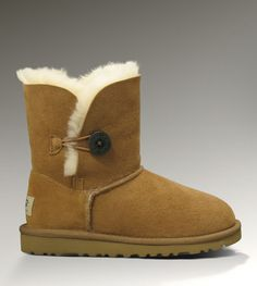 Ugg Kid Bailey Button Boots Chestnut