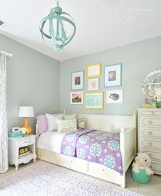 Love these colors for her room