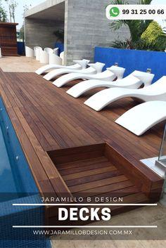 Los decks para albercas son aplicables tanto al entorno de las albercas deportivas, como residenciales, saunas, spas, jacuzzis.