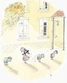 ¤ Jean-Jacques Sempé. Le Petit Nicolas. jeu de saute-mouton