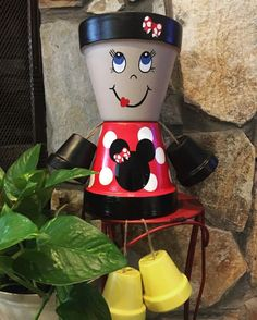 Minnie Mouse inspired Flower Pot Girl/ flower by ShadyPenguins