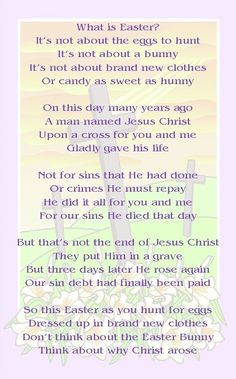Printable Easter poems for kids, which can also be used as Easter coloring pages. Description from pinterest.com. I searched for this on bing.com/images