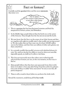 What do we know about alien life forms? In this reading and writing worksheet, your child gets practice reading nonfiction text, identifying keywords, and taking notes on main points.