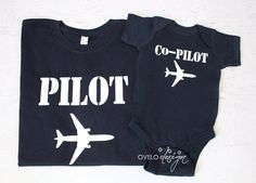 Daddy and Me Pilot Co-pilot Pictured in Navy by OVELO on Etsy