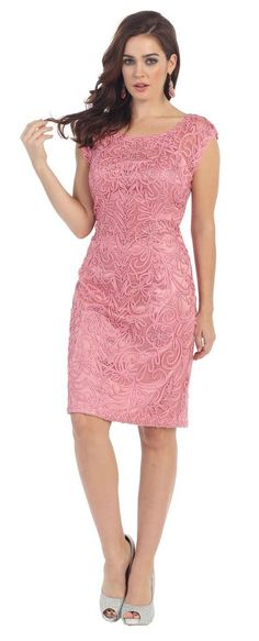 Short Cocktail Mother of the Bride Plus Size Dress